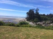 View over Kalaloch Beach next to Kalaloch Lodge.