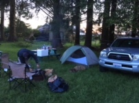 Our Forks campsite, Last Chance Campground.