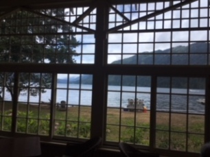Lake Crescent view from the lodge.